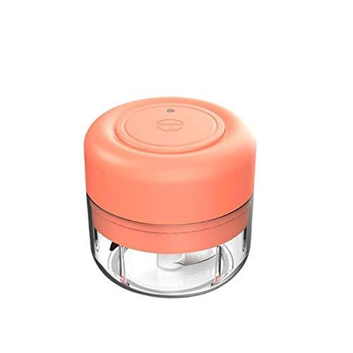 QIDIAN Processeur Alimentaire Électrique Portable Chargement USB, Mini Petit Robot Et Hachoir À Légumes Coupe du Bol en Verre avec Grattoir pour Le Mélange, La Préparation De Repas Et Mincing,Vert
