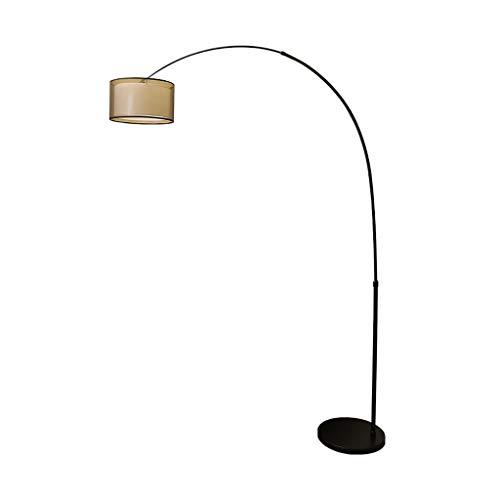 Floor Lamp Standing Light Vertical Lamps Lights Arc Floor Lamp with Double layer Fabric Shade Arm Adjustable Standing Lamp Modern Design for Office Bedroom Floor Lamps Indoor Lighting