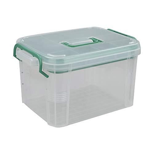 Nesmilers Plastic Botiquines de Primeros Auxilios, Caja de Almacenamiento Multifuncional