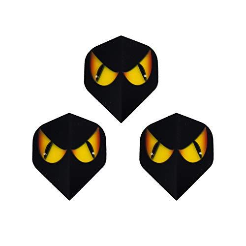 Britannia Darts 6 Dart Flights Katze Gelbe Augen