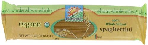 bionaturae Organic 100% Whole Wheat Spaghettini, 16 Ounce Bags (Pack of 12)