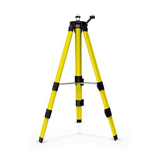 1M niveau Laser trépied jaune trépied montage réglable 360 degrés hauteur épaissir le support de trépied pour auto nivellement (jaune)