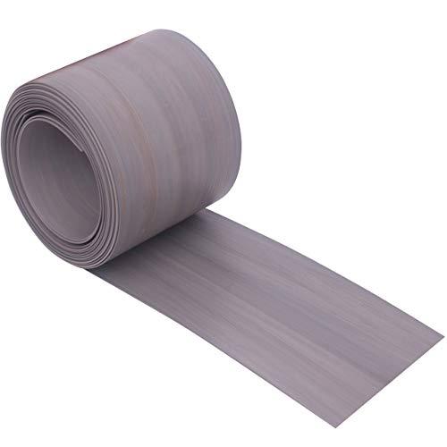 Videx Sichtschutzstreifen für Doppelstabmatten, PVC Holzmaserung, H: 9,5 x L: 200 cm, 2 Stück, lärche-grau