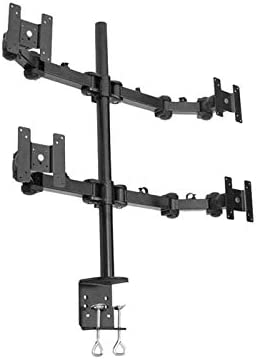 Quad LCD Monitor Stand desk clamp holds up to 4 24