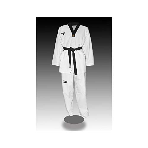 Dorawon, Dobok Taekwondo Bordado Premium Talla 180 cm, Cuello Negro