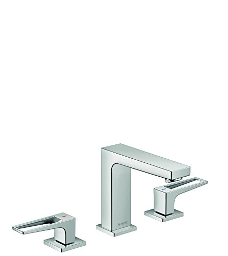 hansgrohe Metropol Modern Low Flow Water Saving 2-Handle 3 5-inch Tall Bathroom Sink Faucet in Chrome, 74516001