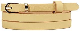 GulfDealz Women's Waist Nude Leather Belt - Beige