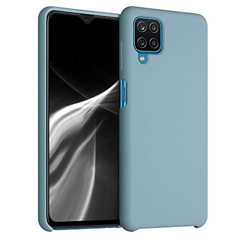 kwmobile Hülle kompatibel mit Samsung Galaxy A12 - Hülle Handyhülle gummiert - Handy Hülle in Stone Blue