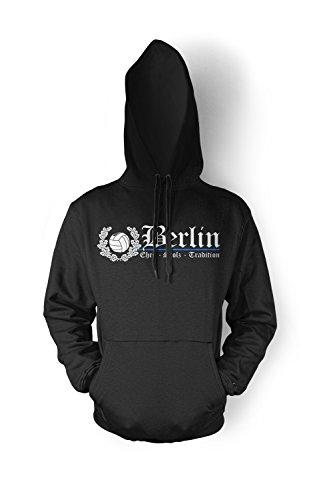 Berlin Ehre & Stolz Männer und Herren Kapuzenpullover | Fussball Ultras City Geschenk | M2 FB (Schwarz, XXXXL)