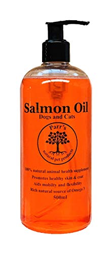 Salmon Oil - 100% Crystal Clear & Pure for Dogs and Cats-500ml