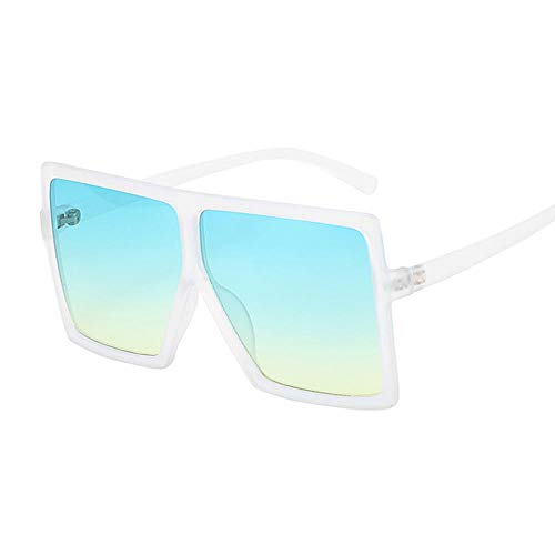 DLSM Gafas de Sol Grandes Gafas de Sol Gafas de Sol Moda Rosa Gafas de Sol Femenina Recetro Vintage Unisex Pesca al Aire Libre Equitación-Trans Azul Amarillo