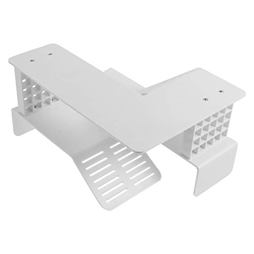 POPETPOP Floating Turtle Pier and Basking Platform Turtle Drying Back Platform Habitat Basking Rock for Turtles Decorative Reptile Frog White