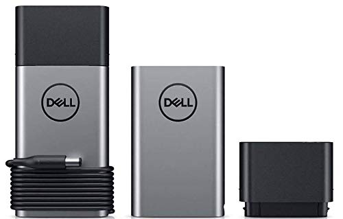 Genuine Original DELL Hybrid 45W Adapter + Modular Power Bank Companion 43Wh PH45W17-BA with 4.5mm and 7.4mm Barrel Cables P/N: 9C76G