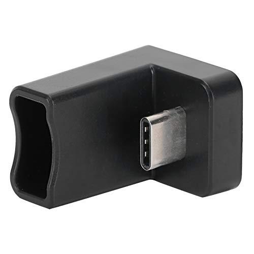 Socobeta Extensor de Velocidad de Transferencia de 10 gbit/s Macho a Hembra Adaptador de ángulo Tipo c de Datos USB de plástico Compatibilidad para computadora portátil