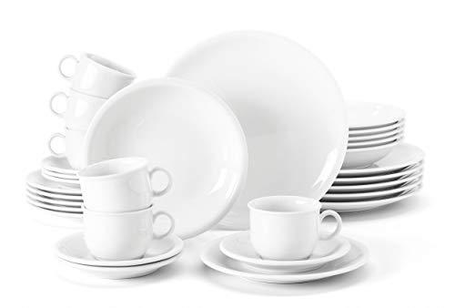 Seltmann Weiden 001.716175 Compact - Servizio da tavola da 30 pezzi, colore: Bianco