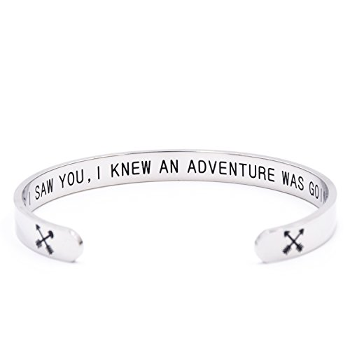 LParkin As Soon As I Saw You , I Knew An Adventure Was Going To Happen Bracelet (Bracelet)