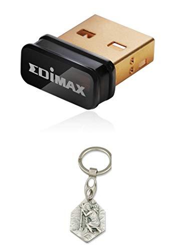 Zisa-Kombi Ultra-Nano WLAN-Stick EDIMAX EW-7811Un, 150 Mbps, für Raspberry Pi (985988712351) mit Anhänger Herz Jesu 2,5cm