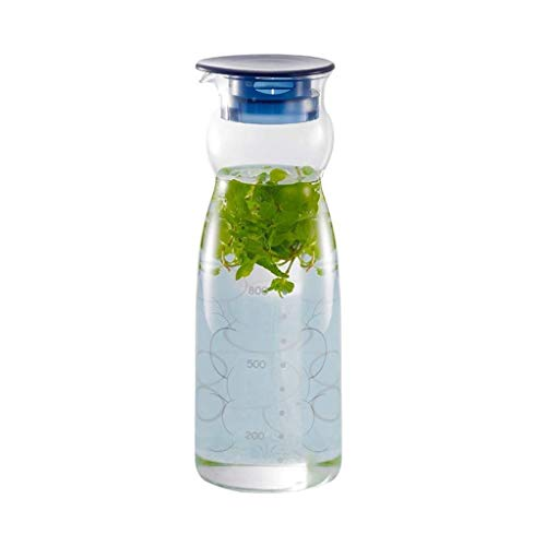 BB&ONE glazen kruik, ijstheepot gemakkelijk schoon te maken, gemakkelijk te gieten, ideaal voor ijsthee koffie melk en sapflessen voor familie geschenken