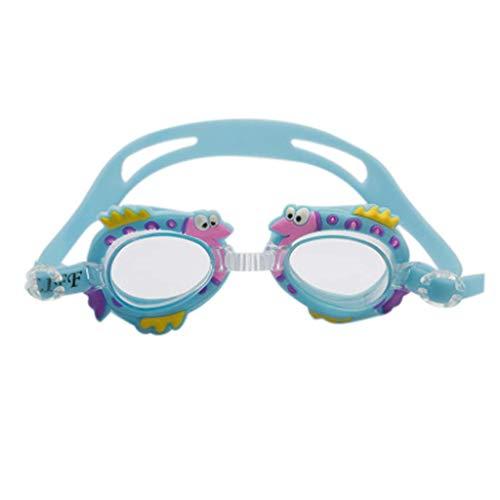Kinderzwembril vlak transparant waterdicht anti-condens jongens en meisjes algemene duikbril zwembril