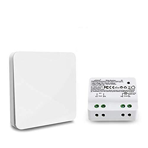 feiledi Trade Kit d'interrupteur de lumière Kinetic sans Fil pour la création ou Le repositionnement Rapide d'appareils de Ventilation à Lampes, sans Interrupteur à Batterie/Auto-alimenté