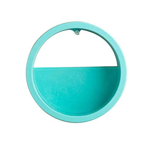gerFogoo Macetero de pared moderno con forma de círculo para suculenta, maceta redonda de metal, hierro interior, contenedor vertical para colgar en la pared (BL1 (M))