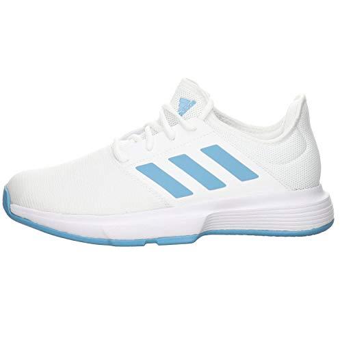 adidas GameCourt M, Zapatillas de Tenis Hombre, FTWBLA/AZUBRU/AZUHAL, 39 1/3 EU