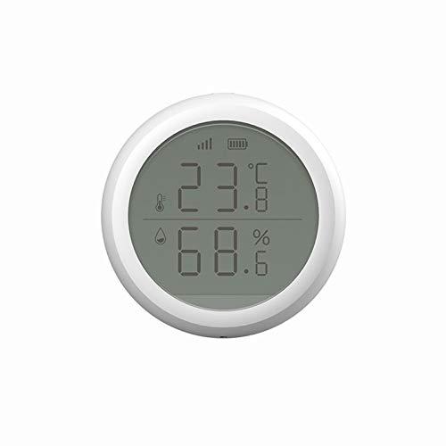 docooler ZigBee Misuratore di Temperatura e umidità Wireless Sensore Igrometro Digitale Intelligente a Infrarossi Monitor Domestico Wireles con Avviso App per Casa/Ufficio/Camera da Letto