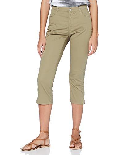 BRAX Damen Style Mary Capri Freizeithose, Grün (Khaki 33), 42