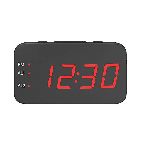 Digitaler Wecker, tragbarer digitaler LED-Wecker, großer Bildschirm, Schlummerfunktion, Sprachsteuerung, kreative Uhr, unterstützt USB und Bettery Uhr, digitaler Wecker, Nachttisch (Farbe: grün)
