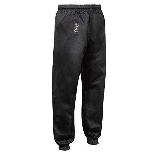 Playwell Kung Fu Negro 100% Algodón Puño Pantalones - Negro, 2/150cm