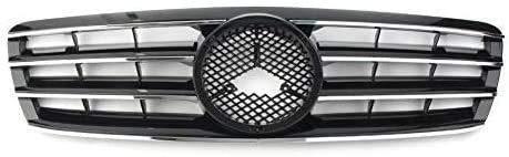 XBXDM Rejilla Delantera Abs, Rejilla De Nido De Abeja para Coche, Rejilla De Parachoques, Rejilla De Entrada De Aire De Modificación De Carreras para Mercedes Benz Clase C W203 C230 C240 C320 C
