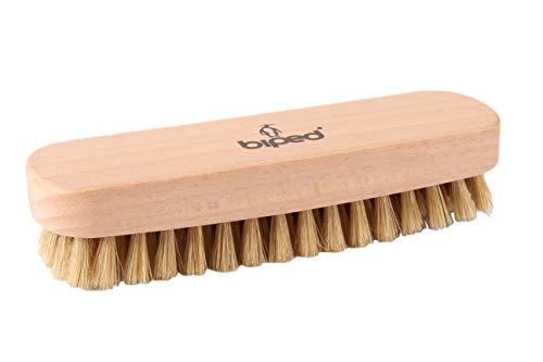 biped Brosse à chaussures en bois de hêtre avec des soies naturelles – pour le nettoyage ou le poli – z2345 (lumineuses)