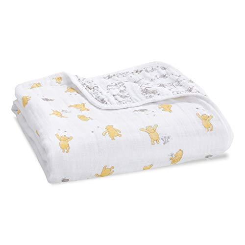 aden + anais Dream Blanket, Boutique Muslin Baby Blankets for Girls & Boys, Ideal Lightweight Newborn Nursery & Crib Blanket, Unisex Toddler & Infant Bedding, Shower & Registry Gift, Winnie The Pooh