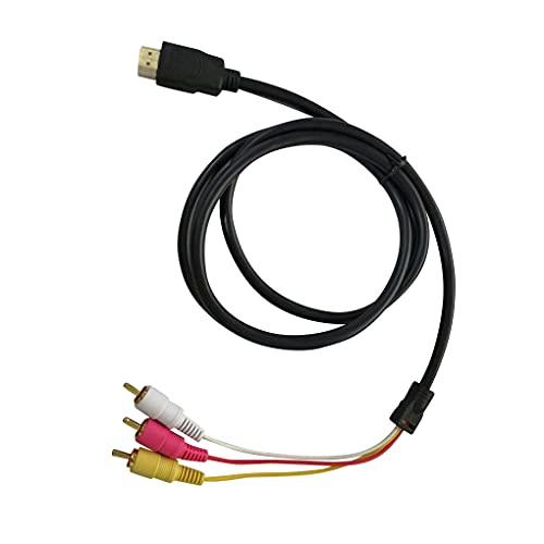 5 pies HDMI a 3 RCA Macho Adaptador convertidor de Video o AV por componentes Cable de línea o línea