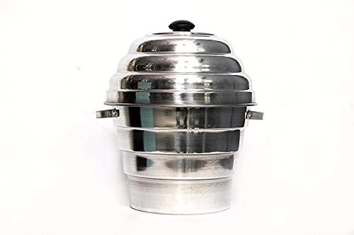 Shri Hari Art Villa Aluminium Cooker (1 Pot, 1 Lid, 4 Idli Plate, 2 Dhokla Plates, Steel)