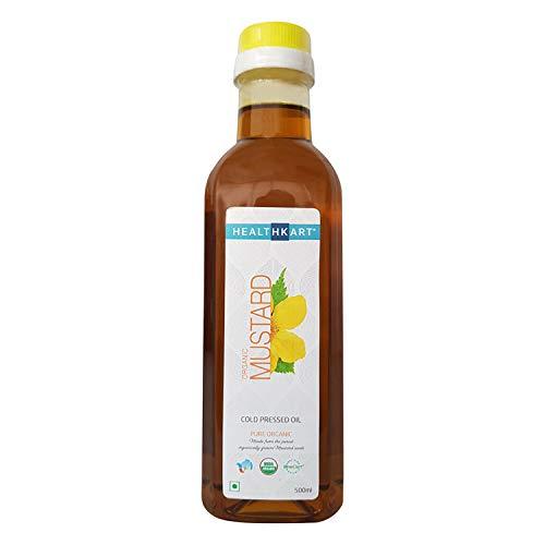 HealthKart Cold Pressed Organic MustardOil, 0.5 L