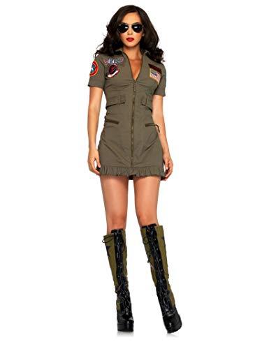 Sexy Top Gun Flight Dress Women's Costume