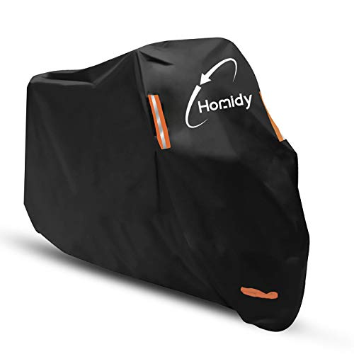 Aideng Heavy Duty Motorcycle Cover, Newest Thicker 300D Oxford All Season Super Waterproof Motorbike Rain Cover Breathable XXL Bicycle Cover for 104 Inch Harley,Yamaha, Indian,BMW,Honda,Ducati or More
