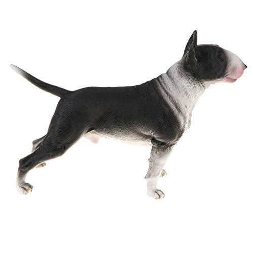 Figura De Modelo Animal Realista Figura De Perro De Juguete Decoración para El Hogar Shiba Inu - Bull Terrier Negro
