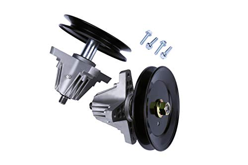 Replacement Spindle Assembly with Pulley Set of 2 - Compatible with MTD, Troy-Bilt and Cub Cadet 42 Inch Deck Lawn Mowers - Replaces 918-04822B, 618-04822, 618-04822A, 618-04822B, 918-04889, 91804889A