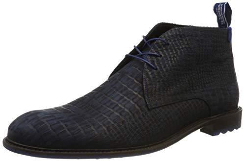 Floris van Bommel Herren 10203/22 Klassische Stiefel, Blau (Dark Blue Nubuck Croco 22), 42 EU