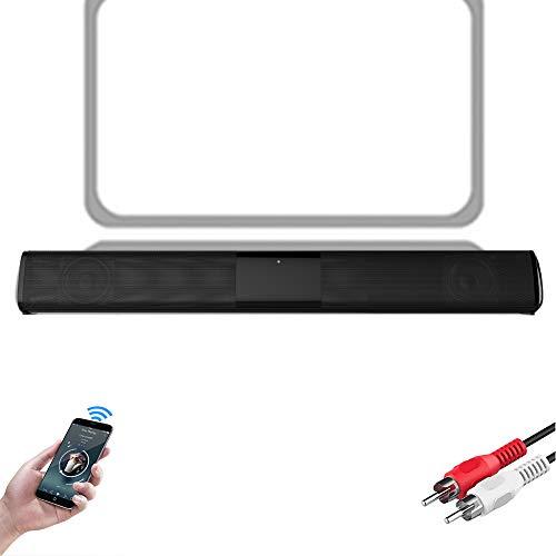 Speaker-EJOYDUTY Bewegliche drahtlose Mini Sound Bar, Bluetooth 5.0 Stereo Laptop-Lautsprecher, Dual-Lautsprecher 10W, für PC, Telefon, Tablet und mehr