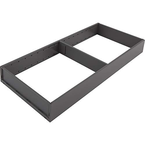 BLUM 4595319 AMBIA-LINE ladeframe breed, NL500mm, staal oriongrijs, mat grijs