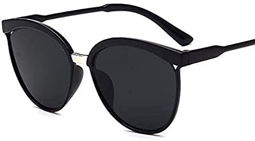 Gafas de sol para mujer, unisex, de metal, multicolor, protección UV400, para deportes al aire libre, golf, ciclismo, pesca, senderismo, gafas de sol (negro, talla única)