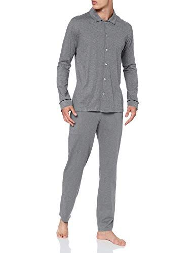 Seidensticker Herren Men Pyjama Long Pyjamaset, anthrazit-Mel, 054