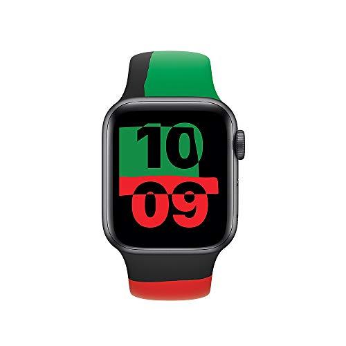 Apple Watch (44mm) Sportarmband, Black Unity - Regular