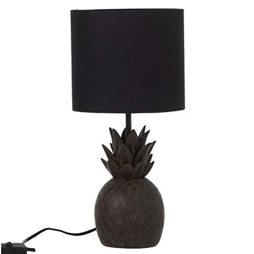 Lampe ananas en résine marron