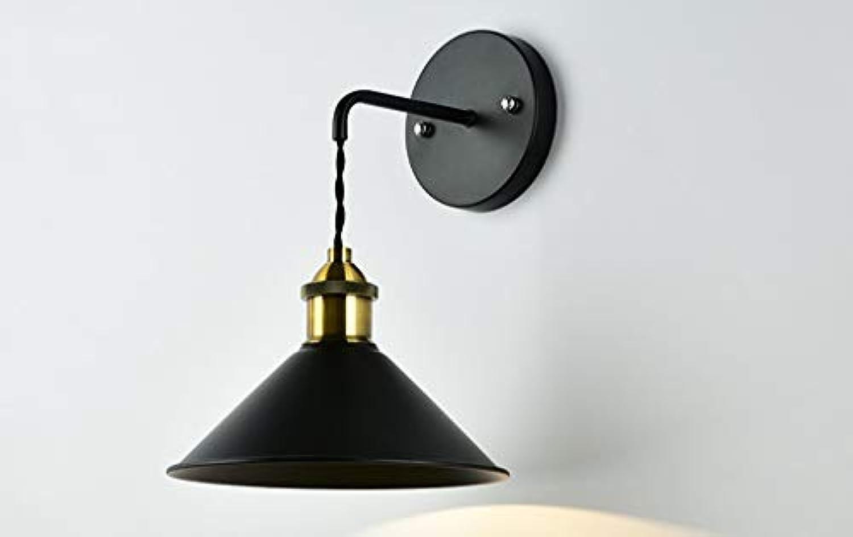 Wandleuchte, Farbe kreative Schlafzimmer Wand Lampe Korridor Gang Treppe Wandleuchten Einfache Wohnzimmer Leuchten E27 Leicht zu Reinigen (Farbe  Schwarz)