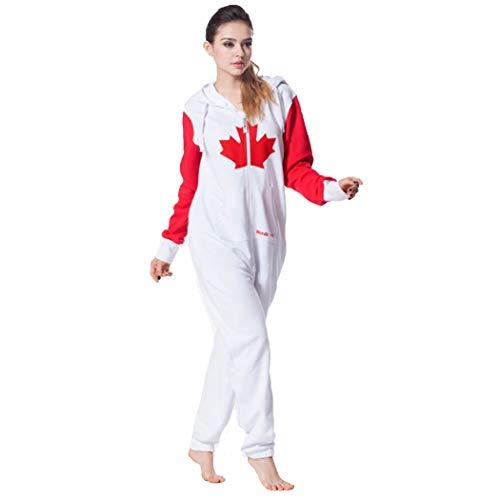 Pijamas de una Pieza Sudaderas con Capucha del Mono De La Hoja De Arce Canadiense Bodies Ropa del Mono De Europa Y América (Color : Unisex, Size : L)