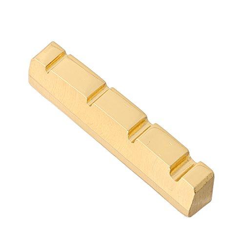 Brass Bass Nut Hengory 4-Str Jazz Bass Nut Bass Guitar Replacement